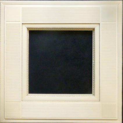 Cr ation de cadres b atrice carette for Miroir cadre blanc