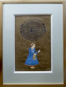 peinture indienne - double biseau et dépassant