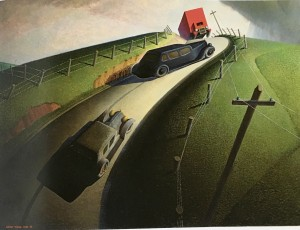 Death on the ridge road - Grant Wood