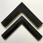 cadre à coins bouchés - patine noir/argent