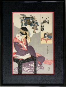 baguette laquée pour une estampe japonaise