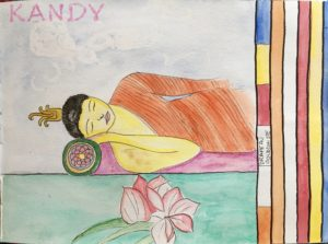 sketchbook sri lanka bouddha kandy
