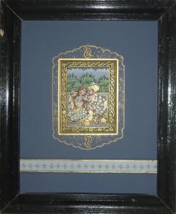 miniature persane - passe-partout peint
