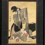 estampe japonaise encadrée