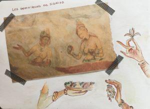 sketchbook sri lanka demoiselle de sigiriya