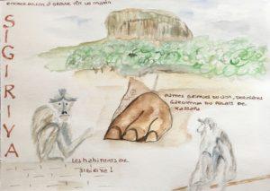 sketchbook sri lanka singes et rocher du lion