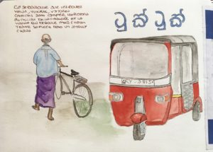 sketchbook sri lanka tuk tuk