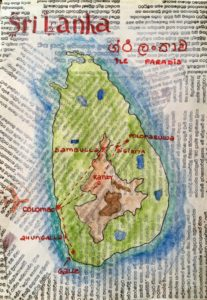 carte du sri lanka sketchbook carte