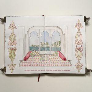 udaipur carnet de voyage inde rajasthan sketchbook