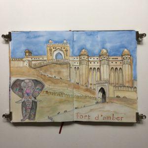 carnet de voyage inde rajasthan sketchbook croquis
