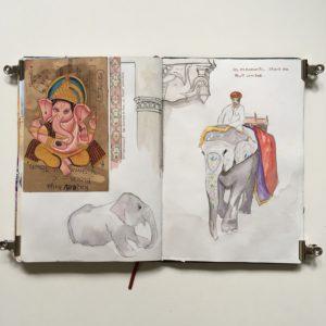 sketchbook carnet de voyage inde rajasthan