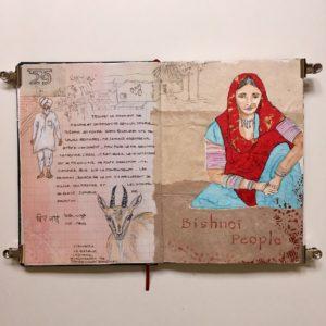 carnet de voyage inde rajasthan sketchbook bishnoi jodhpur