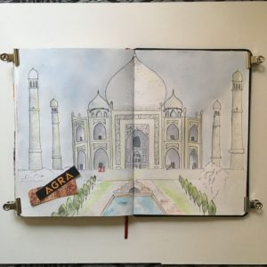 carnet de voyage inde rajasthan agra taj mahal sketchbook